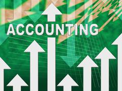 Accounting Graph Representing Graphs Calculate And Auditing Stock Illustration