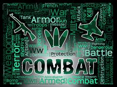 Combat Words Indicating Military Action And Warfare Piirros