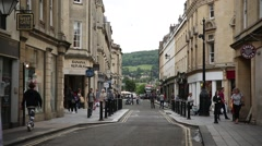 City of Bath - establishing shot and crowds of people Stock Footage