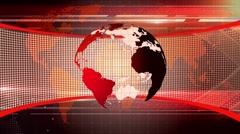 Motion Loopable Background 076, news BG with globe Stock Footage