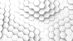Structure of hexagons displacing like waves. 3D Rendering Stock Footage