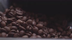 Coffe beans in a Coffee Machine Stock Footage