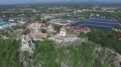 Aerial view Prachuap Khiri Khan Stock Footage