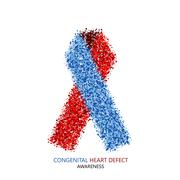 Vector modern Congenital Heart Defect circles desigen Stock Illustration
