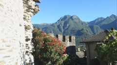 Castle vogogna piedmont Italy Stock Footage