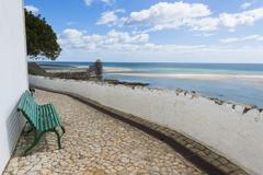 Cacelha Vela and beach, Algarve, Portugal, Europe Stock Photos