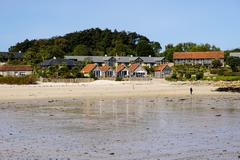 Old Grimsby, Tresco, Isles of Scilly, England, United Kingdom, Europe Stock Photos