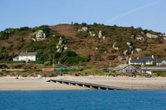 The Bar Quay on Bryher, Isles of Scilly, England, United Kingdom, Europe Stock Photos