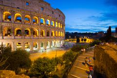 The Colosseum, UNESCO World Heritage Site, Rome, Lazio, Italy Stock Photos