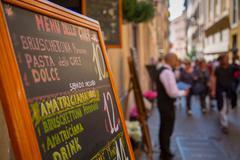 Busy side street near Trevi Fountain, Rome, Lazio, Italy, Europe Stock Photos