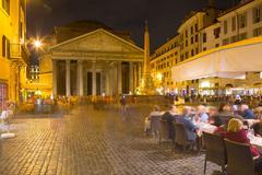 Piazza Della Rotonda and The Pantheon, UNESCO World Heritage Site, Rome, Lazio, Stock Photos