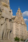Royal Liver Building, Pier Head, UNESCO World Heritage Site, Liverpool, Stock Photos