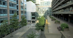 The Barbican Estate and The City of London, UK Stock Footage