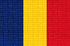 Flag of Romania Graffiti Stock Illustration