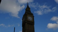 Time Lapse of Big Ben, Elizabeth Tower London Stock Footage