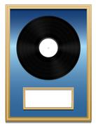 Vinyl Record Music Award Plaque Unlabeled Stock Illustration