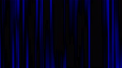Broadcast Twinkling Blue Vertical Bars Video Stripe On Black Background Stock Footage