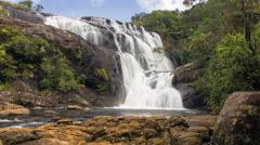 Bakers falls Sri Lanka Stock Footage