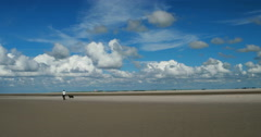 On The North Sea Beach of St. Peter-Ording Stock Footage