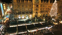 Marienplatz square during the Christmas season Stock Footage