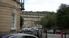 Typical english city - the city of Bath Stock Footage