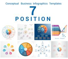 Infographics Business Conceptual Cyclic Processes Seven Positions Stock Illustration
