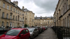 An Example of Regency Architecture: City of Bath Stock Footage