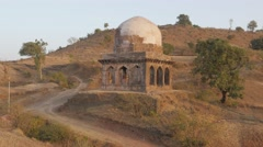 Small tomb in the hills,Mandu,India Stock Footage