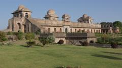 Jahaz Mahal or Ship Palace,Mandu,India Stock Footage