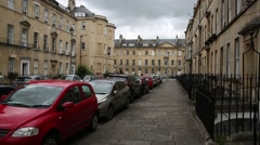 Traditional English architecture in the city of Bath Stock Footage