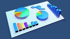 Business Chart animation Stock Illustration