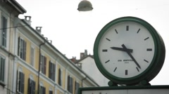Street clock in Milan Stock Footage