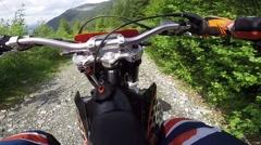 Enduro Adventure, Gopro Point Of View Stock Footage