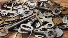 Old keys Stock Footage