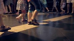 Children are dancing on the disco dance floor - stock footage