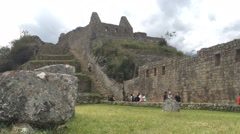 Timelapse Main Stairway Bottom Section Machu Picchu Stock Footage
