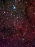 Elephant's trunk nebula inside IC 1396. Stock Photos