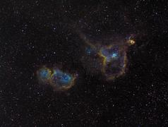 The Heart and Soul Nebulae. Stock Photos