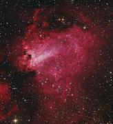 Messier 17, The Swan Nebula in Sagittarius. - stock photo