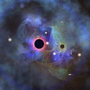 Beautiful stars, black holes and nebulae. Stock Illustration