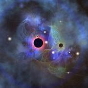 Beautiful stars, black holes and nebulae. - stock illustration