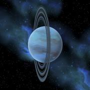 Artist's concept of planet Uranus. Stock Illustration