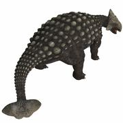 Ankylosaurus, an armored dinosaur from the Cretaceous Period. - stock illustration