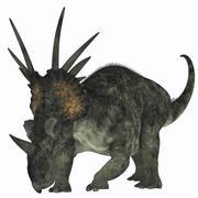Styracosaurus, a herbivorous ceratopsian dinosaur. Stock Illustration