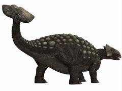 Ankylosaurus, a heavily armored dinosaur from the Cretaceous Period. - stock illustration