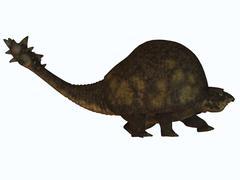 A large glyptodont from the Pleistocene epoch. Stock Illustration