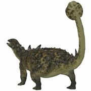 Euoplocephalus armored dinosaur from the Cretaceous Period. - stock illustration