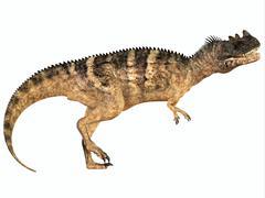 Ceratosaurus dinosaur. Stock Illustration