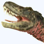Tarbosaurus dinosaur roaring. Piirros