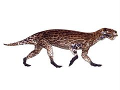 Lycaenops from the Permian period. - stock illustration